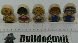 Kidkraft Lot Assorted Wood People Figure Police Construction Part Only Toy