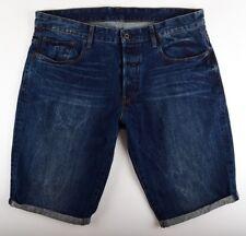 G-Star Raw, 3301 fuselé 1/2 jeans shorts, gr. W38 bleu bermuda homme short