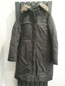 THE NORTH FACE Grey Hooded Coat Size M