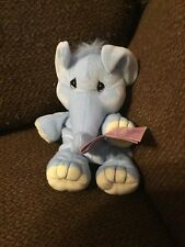 New! 1997 Precious Moments Tender Tails Blue Elephant #358320 8� Tall
