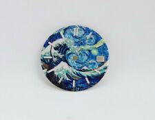 Great Wave Starry Night Custom Watch Dial w/ date- fit for Seiko NH35 7S36 4R15