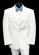 Men's White Lord West Tuxedo Dinner Jacket with Pants Wedding Mason Cruise Prom