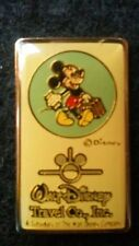 DISNEYLAND 80s WALT DISNEY TRAVEL COMPANY MICKEY WITH SUITCASE EARFORCE ONE PIN