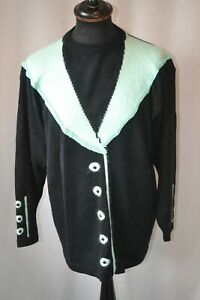 Vintage 80's Exclusive Mode knit wear jumper size large pullover
