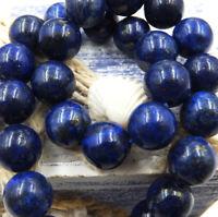 Natural Gemstone Round Spacer Loose Beads Wholesale 4-6-8-10-12mm Lapis Lazuli