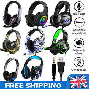 Gaming Headset For PC Xbox One PS4 Nintendo Switch 3.5mm USB Headphones With Mic