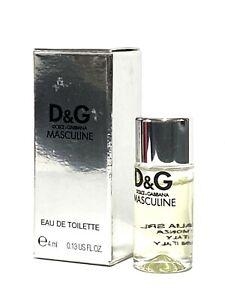 D&G MASCULINE by Dolce & Gabbana For Men 4ml EDT Splash Mini Travel Size (C73