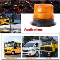Car Auto 12V-24V Flashing Strobe Beacon Emergency LED Warning Light Lamp Amber