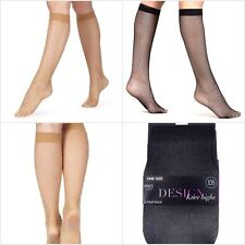 Fa M Ou S High St M S Superfine Fishnet Knee Highs Pack of 2 One Size 4-8 RRP £6
