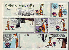 Calvin and Hobbes by Bill Watterson - color Sunday comic page, December 25, 1994