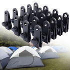 10-60 Sets Awning Tarp Clamp Set Clips Hangers Survival Tent Emergency Grommet