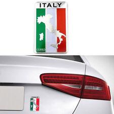 1pc Car Truck Auto 3D Italian Italy Flag Emblem Sticker Metal Badge Decal Decor