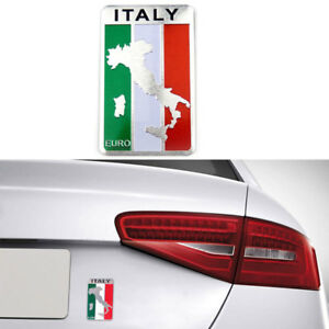1pc Car Truck Auto 3D Italian Italy Flag Emblem Sticker Metal Badge Decal Decor