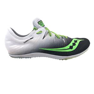 Saucony Mens Size 11 White Green ISO Series Carrera XC4 Cross Country Spikes
