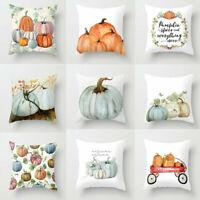 Fall Halloween Pumpkin Pillow Case Waist Throw Cushion Cover Sofa Home Decor Vv