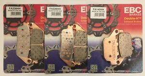 Triumph Tiger 800 (2011 to 2018) EBC Sintered FRONT and REAR Brake Pads (3 Sets)