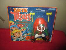 new battle trolls T.D. TROLL sealed blister pack 1992 hasbro big haired dudes