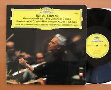 DG 2530 439 Strauss Oboe & Horn Concertos Koch Hauptmann Karajan NM/EX Germany