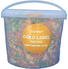 Gold Label Value Aquarium Goldfish Koi & Pond Fish Flake Food 3000ml 3 Litre Tub