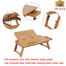 Lazy Laptop Bed Tray Lap Table Notebook Computer Holder W/ Drawer Vent Foldable