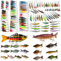 Lot 12PCS Fishing Lures Set Minnow Bait Kit Wobblers Crankbait Tackle Hook Bass