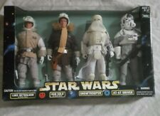 1998  STAR WARS 12 INCH FIGURES  ACTION SERIES LUKE, HAN, SNOWTROOPER, AT-AT DR