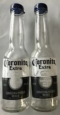 Corona Salt and Pepper Shakers 1 Pair of 7oz Coronita Extra Bottles and Caps by