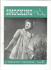 1960s Needlecraft Publication - Smocking by Penelope (needlework)