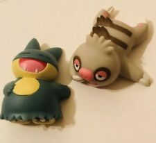 Munchlax & Slakoth Pokemon Nintendo Bandai Toy Figures Vtg 2pcs Bundle Lying d