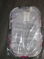 Pampered Chef On the Go Large Collapsible Insulated Zippered Picnic Basket P/Dot