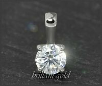 Diamant Brillant 585 Gold Anhänger 0,31 ct; River E & Lupenrein; Damenanhänger