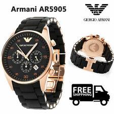 Reloj cronógrafo nuevo Para hombres Emporio Armαni AR5905 Negro de cuarzo de silicio