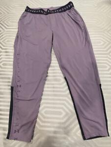 UNDER ARMOUR Women`s Purple Track Warm-up pants M