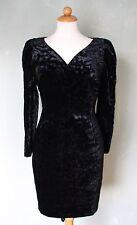 Rembo Belgium Kleid Samtkleid Vintage schick Samt schwarz extravagant Gr. 36 / S