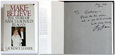 Leamer MAKE-BELIEVE The story of Nancy and Ronald Reagan SIGNED ist edition