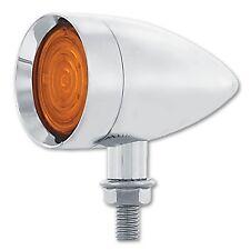 Led Ambre Chrome Métal Balle Indicateur Clignotant Light Hot Rod Camion Remorque