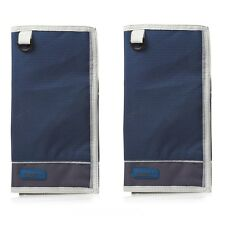 2 X Gelert Global Map Case Copen Blue Pewter Mapcase Cover Protector Bag Plastic