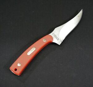 Schrade Old Timer Sharpfinger Knife 1520TO Blaze Orange Sawcut Perlin Handle