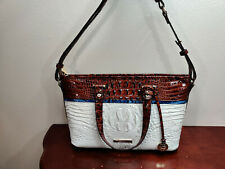 NWT New Brahmin Handbag Mini Asher Satchel Bag in Daydream Montgomery Style