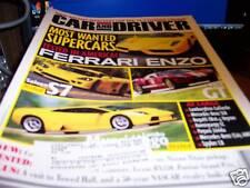 Car & Driver Magazine 7/2003 Ferrari Enzo