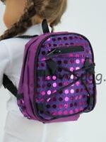 "New Purple Sequin Backpack for 18"" American Girl Doll Lovvbugg Widest Selection!"