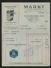 """PARIS (XI°) USINE de SORBETIERE GEM """"MARKT & Co"""" Vignette Entreprise en 1936"""