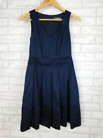 Marcs Fit & flare dress Pleated Navy blue V-neck Sz 6