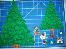 """New listing Christmas Fabric Iron-on Appliques - 8"""" or 12"""" Christmas Tree with Presents"""