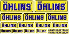 KIT 19 ADESIVI OHLINS GIALLO BLU STICKERS COD73