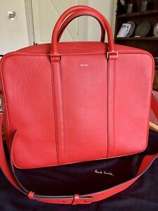 Paul Smith Red  Bag. Weekend Or Briefcase New