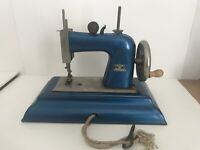 Vintage Casige Toy Hand Crank Sewing Machine Germany Parts Restoration or Repair