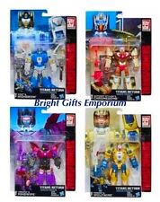 Transformers Titans Deluxe Wave 2 Set 4 Highbrow Chromedome Mindwipe Wolfwire