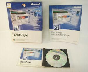 Microsoft Frontpage Upgrade Version 2002 PC Software Program W/Manual & Key