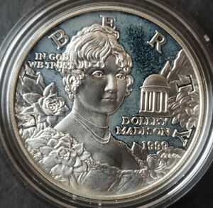 1999 P Proof $1 Dolley Madison Commemorative Silver Dollar